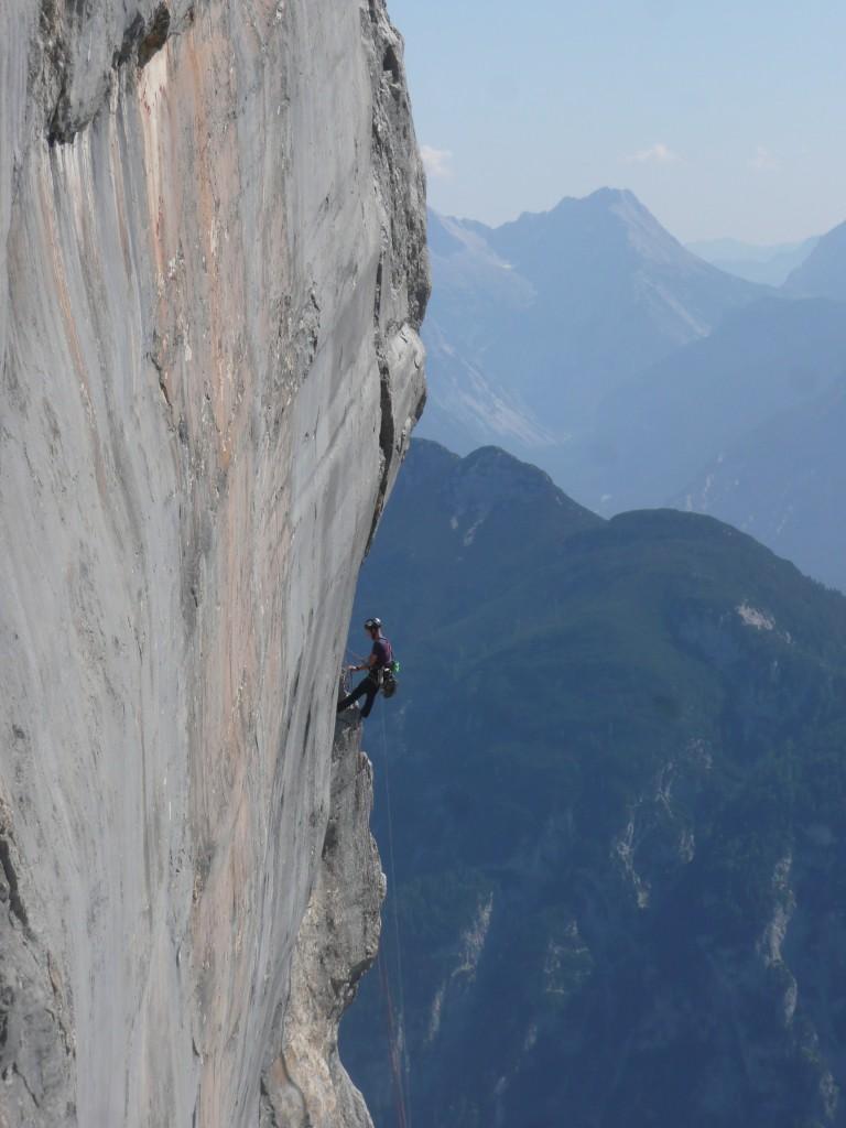 Kletterer rechts der Platte