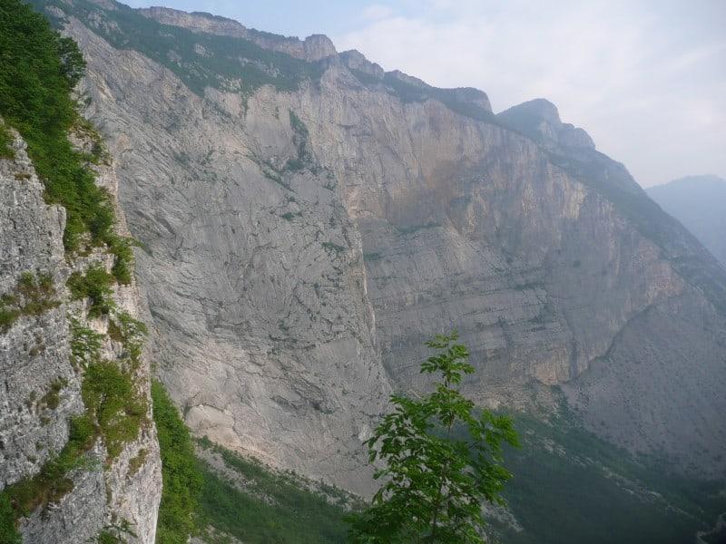 """Boomerang"" am Monte Brento im Sarcatal"