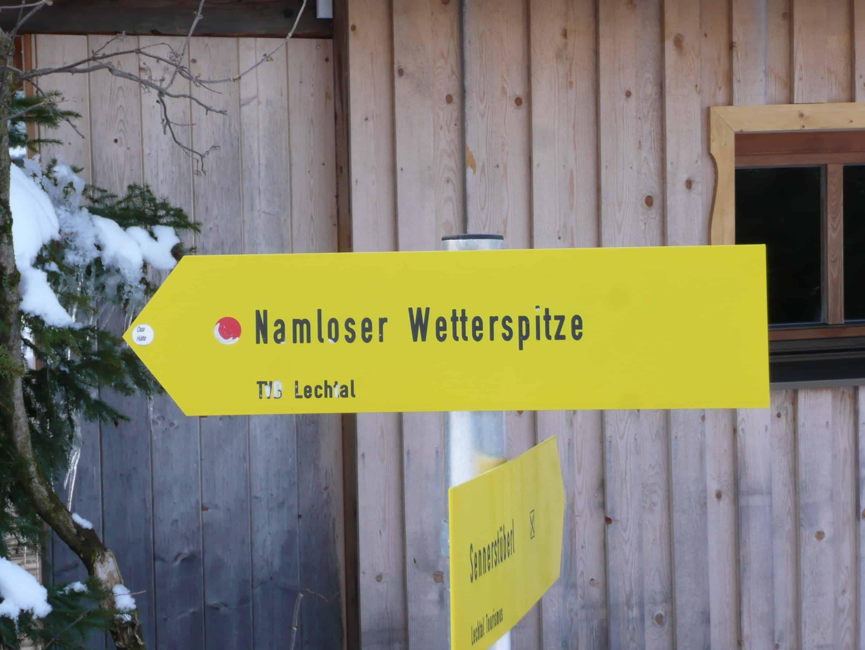 Skitour zur Namloser Wetterspitze in den Lechtaler Alpen