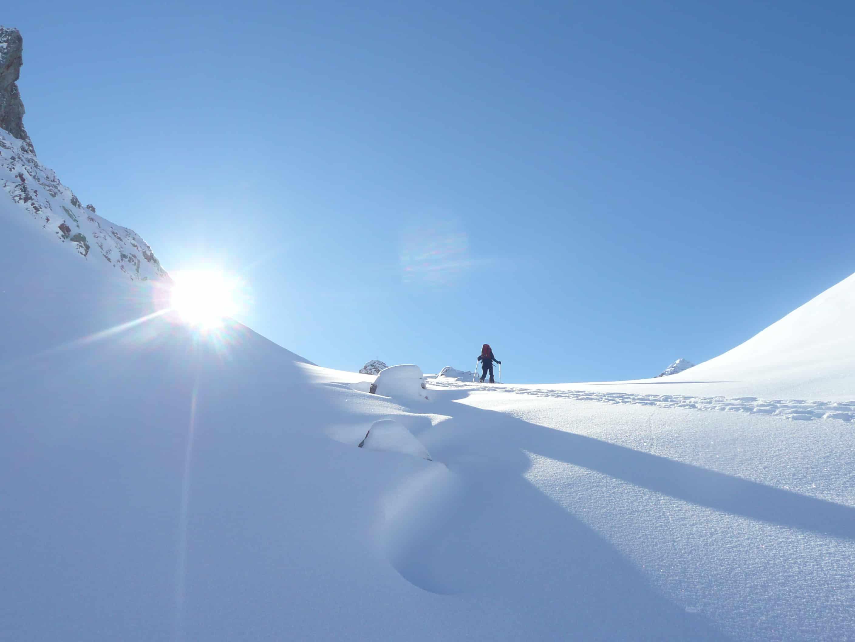 Skitour auf die Steinkarspitze im Lechtal