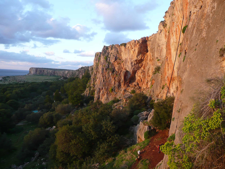 Klettern bei San Vito lo Capo auf Sizilien