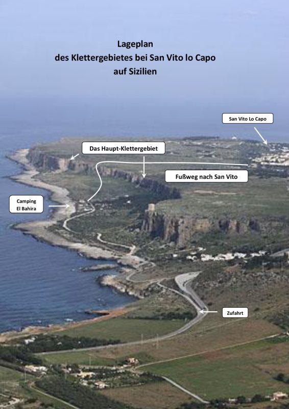 Lageplan des Klettergebietes bei San Vito lo Capo-001