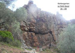 Topo Klettergarten Le Petit Gozzi