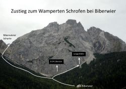 Zustieg zum Wamperten Schrofen-001