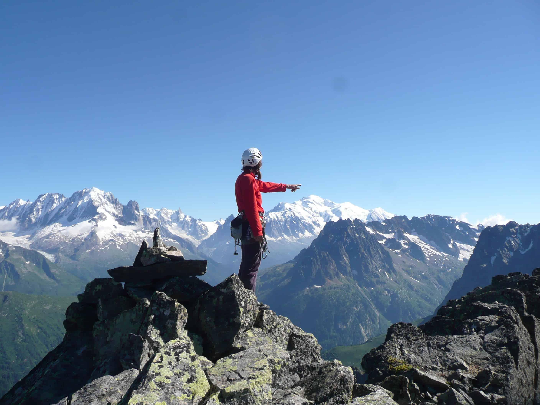 Klettern am Grand Perron