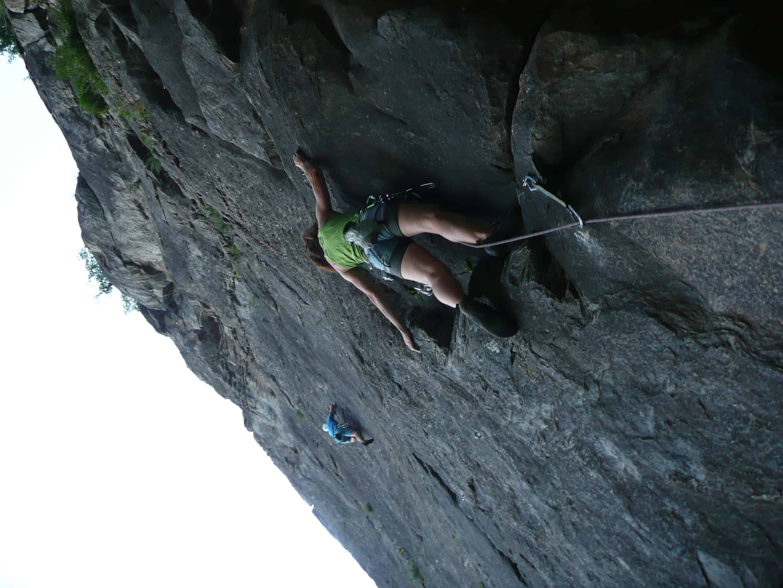 Klettern bei Martigny