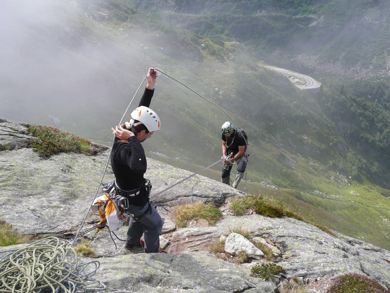 Klettern am Steingletscher