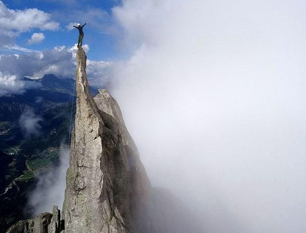 Klettern an der Spazzacaldeira