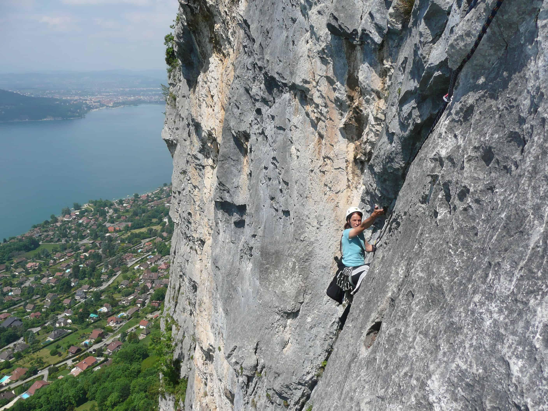 Klettern am Lac d'Annecy