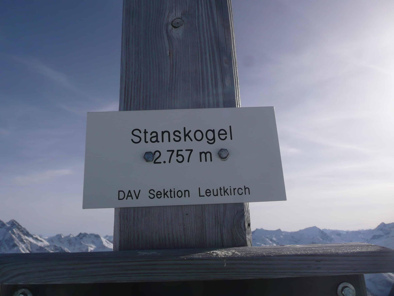 Skitour auf den Stanskogel in den Lechtaler Alpen