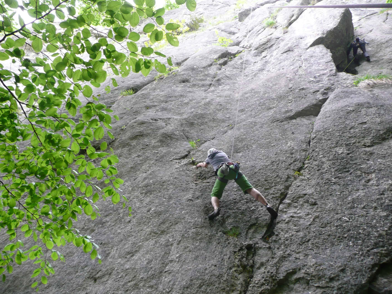 Klettern an der Kastlwand