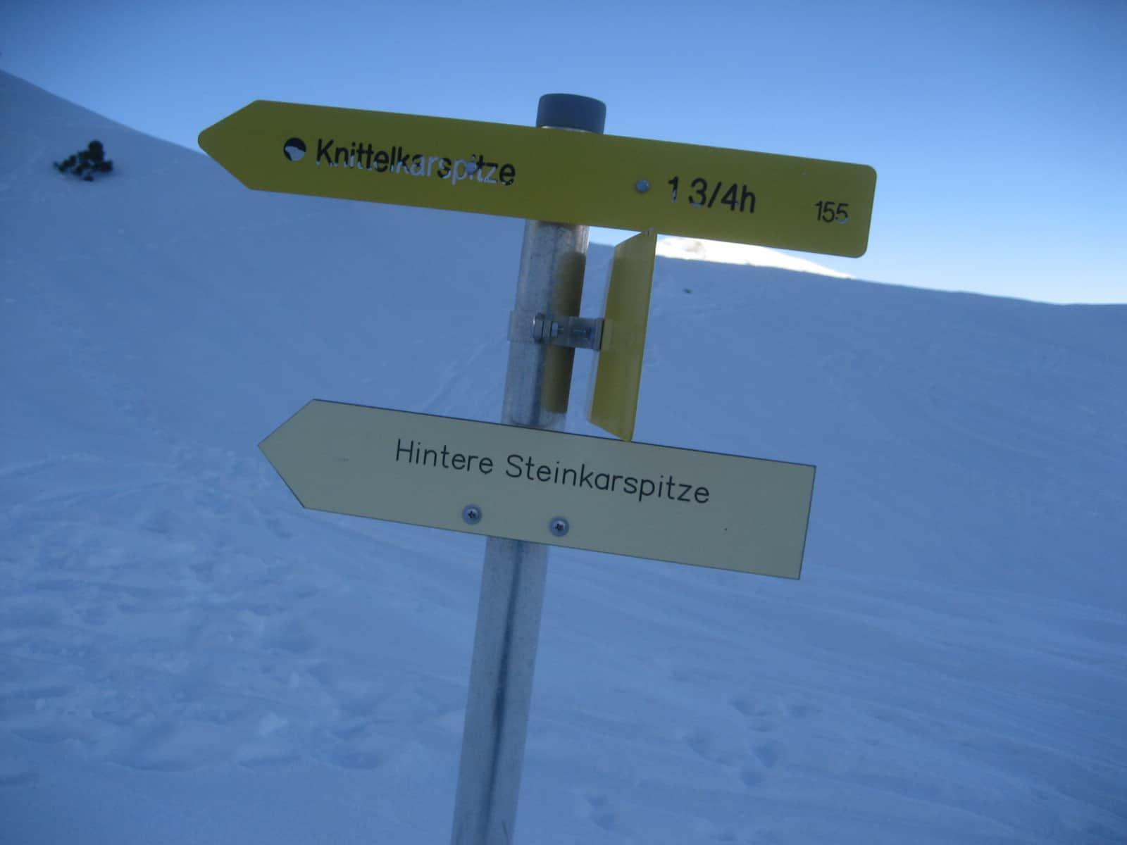 Skitour auf die Hintere Steinkarspitze