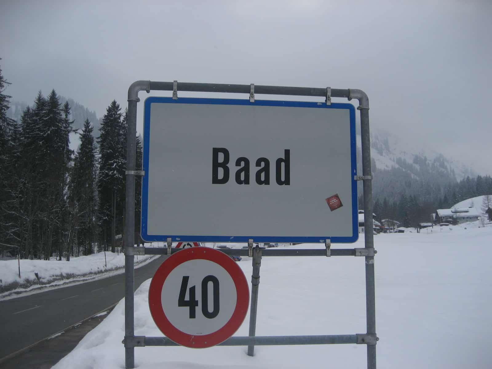 Skitouren bei Baad im Klein Walsertal