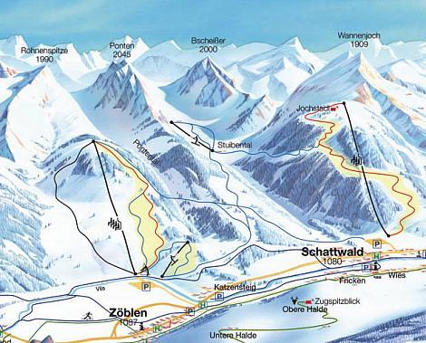 Skitouren bei Schattwald