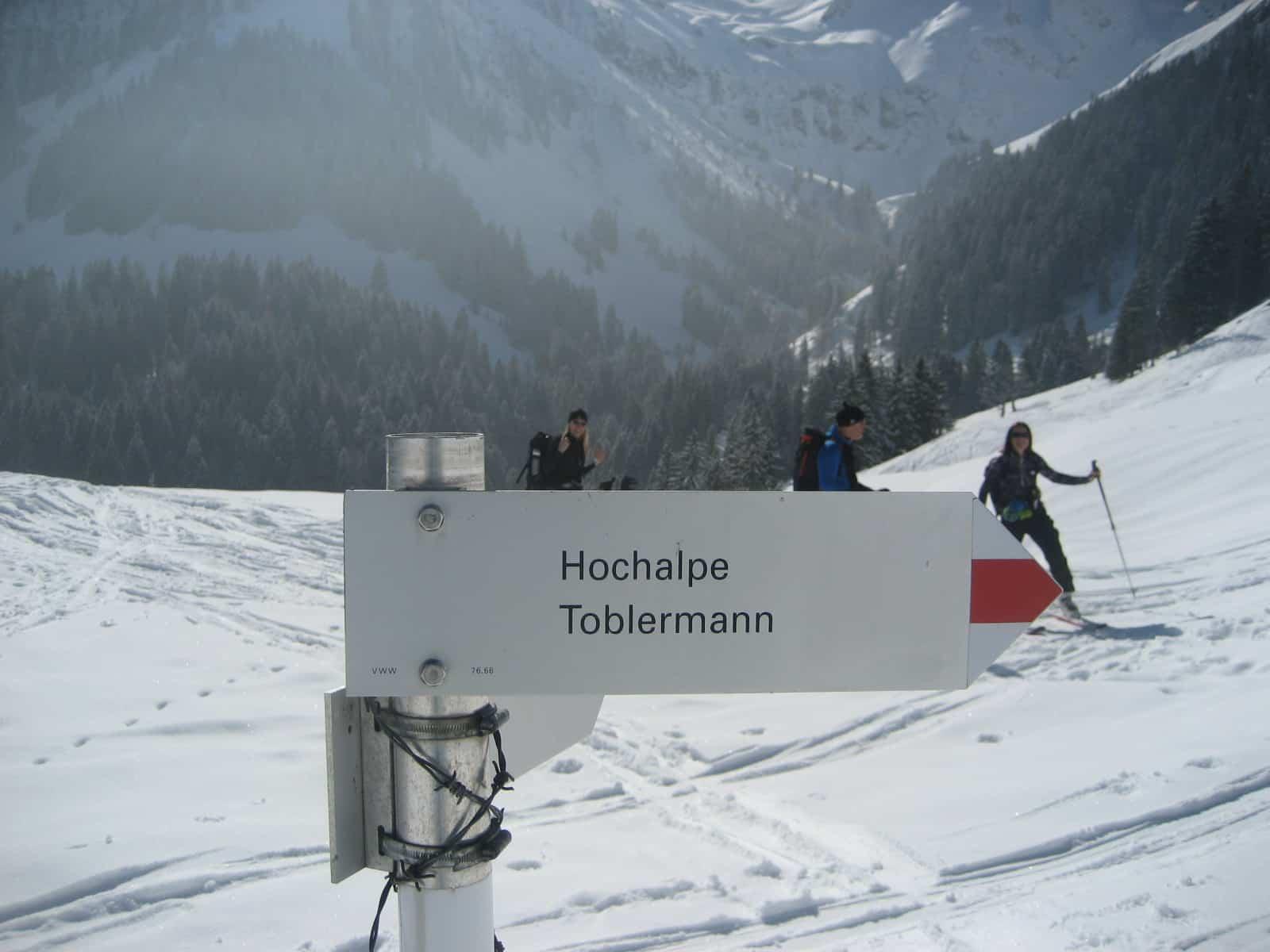 Skitour auf den Toblermanns Kopf