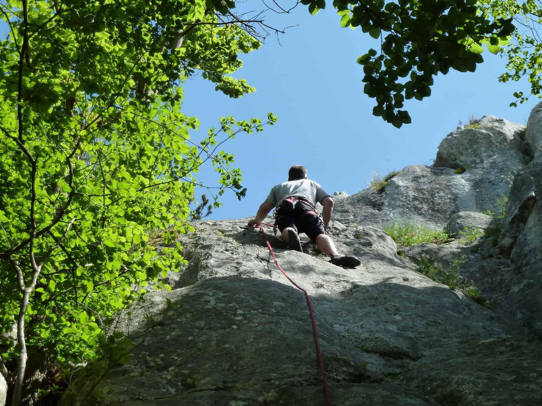 Klettern bei Prunn