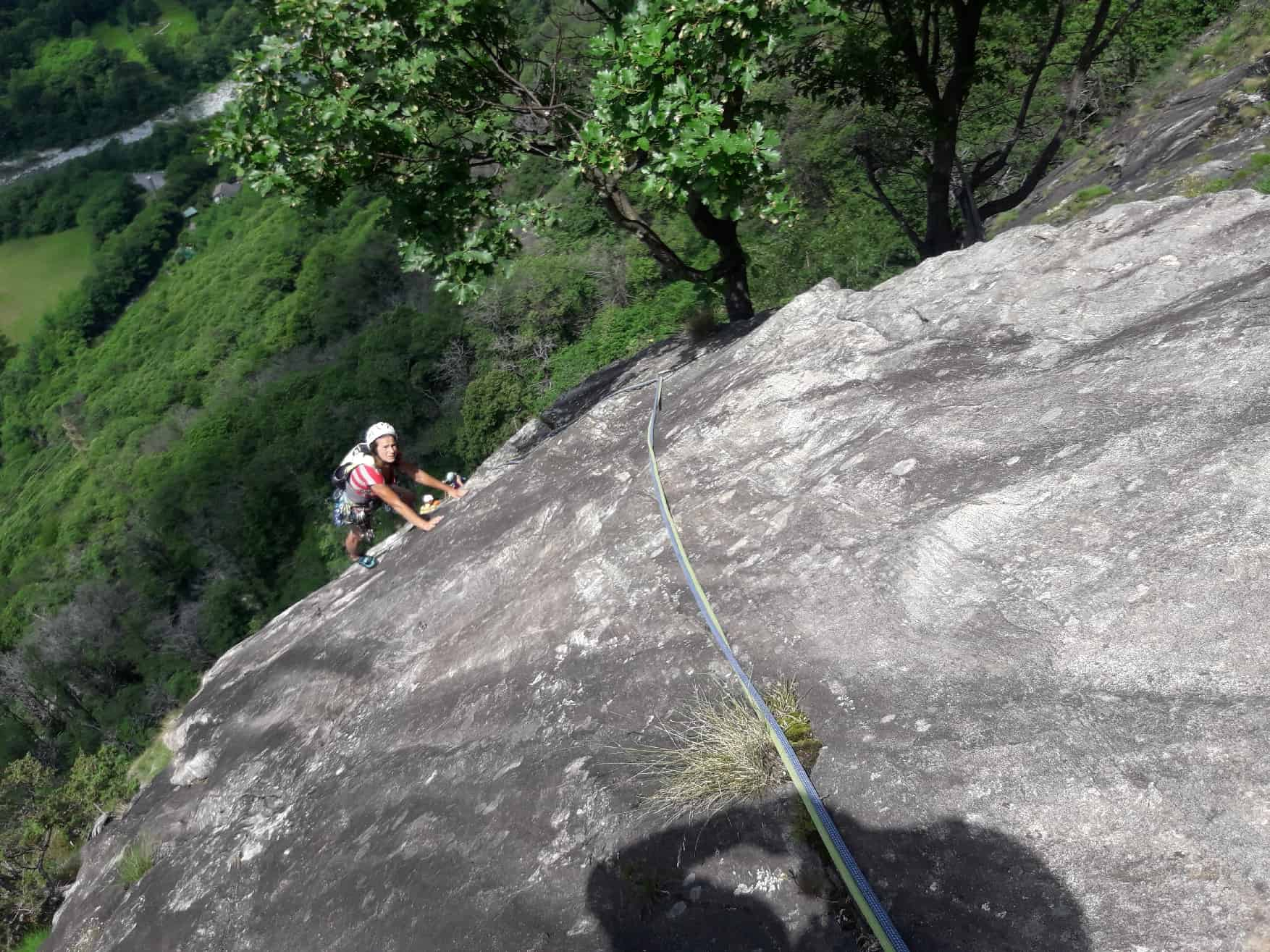 Klettern im Maggia Tal