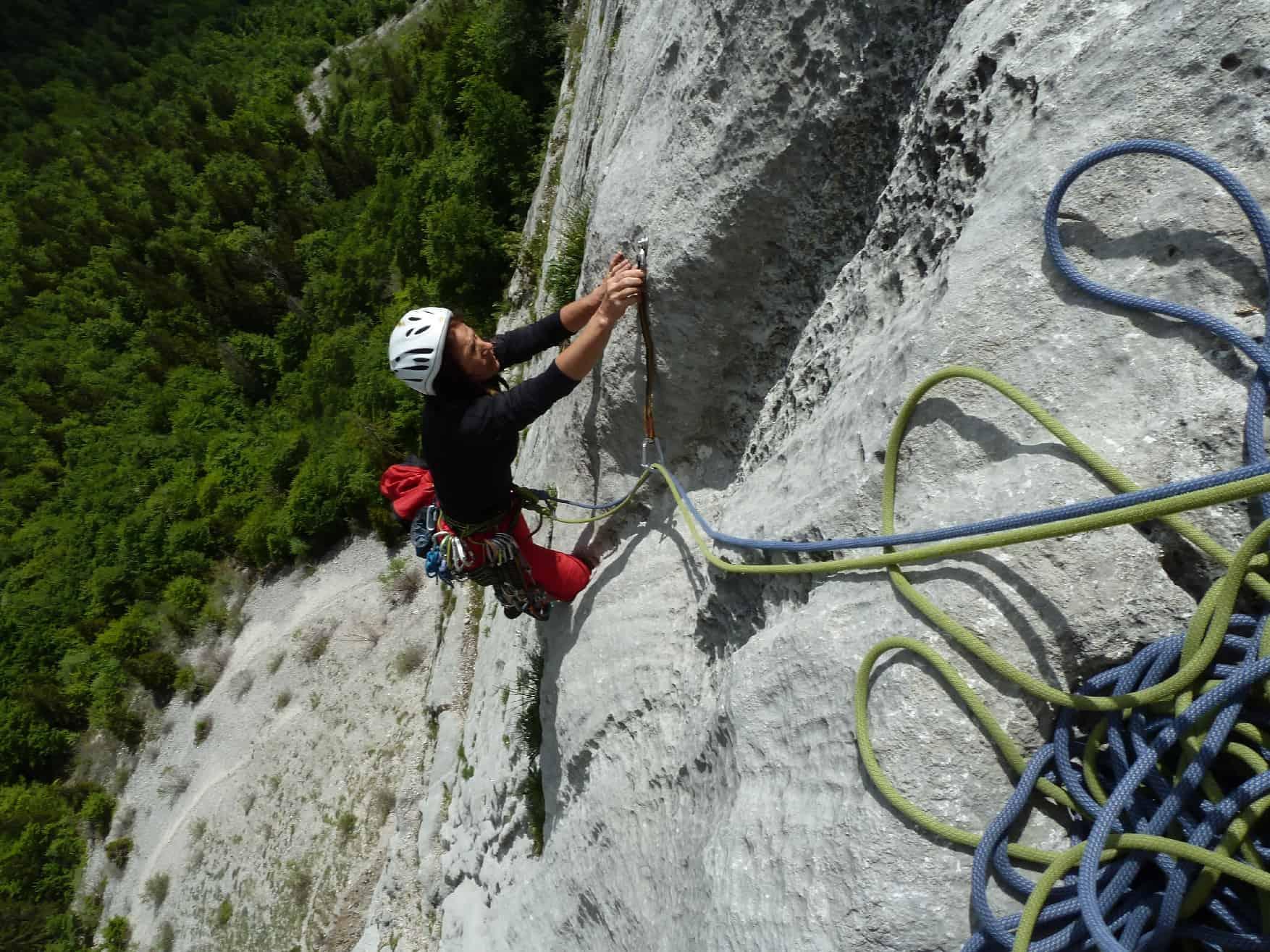 Klettern an der Dalle de la Rosière