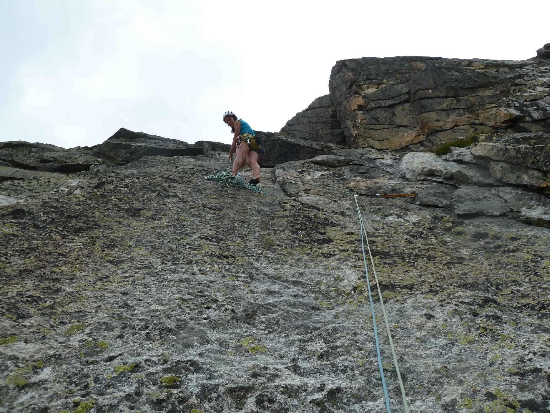 Klettern am Oberalp-Pass