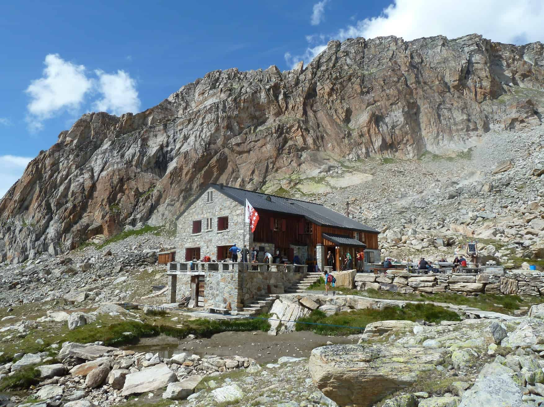Klettern bei der Almageller Hütte