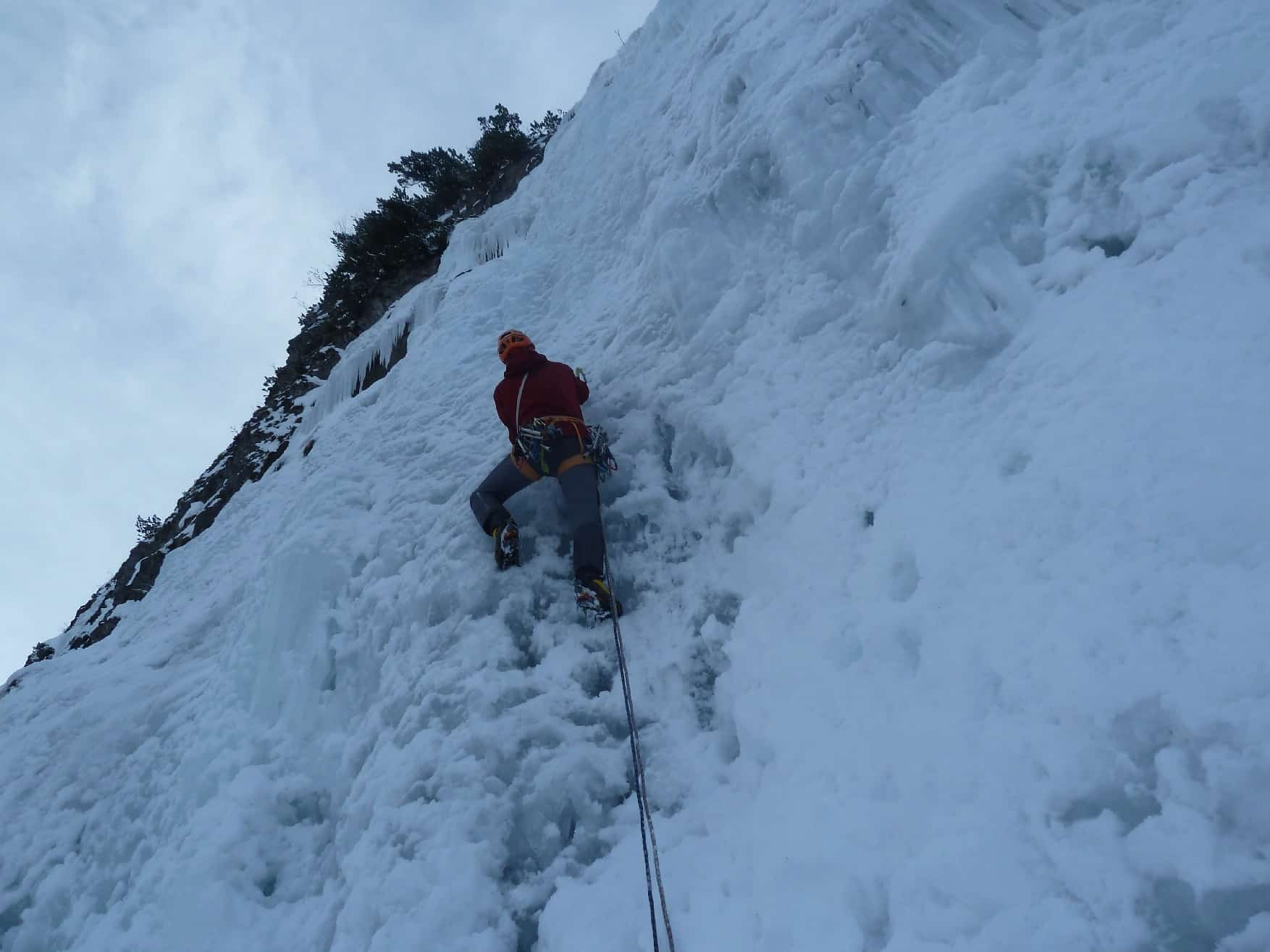 Eisklettern am Gaisalp-Fall