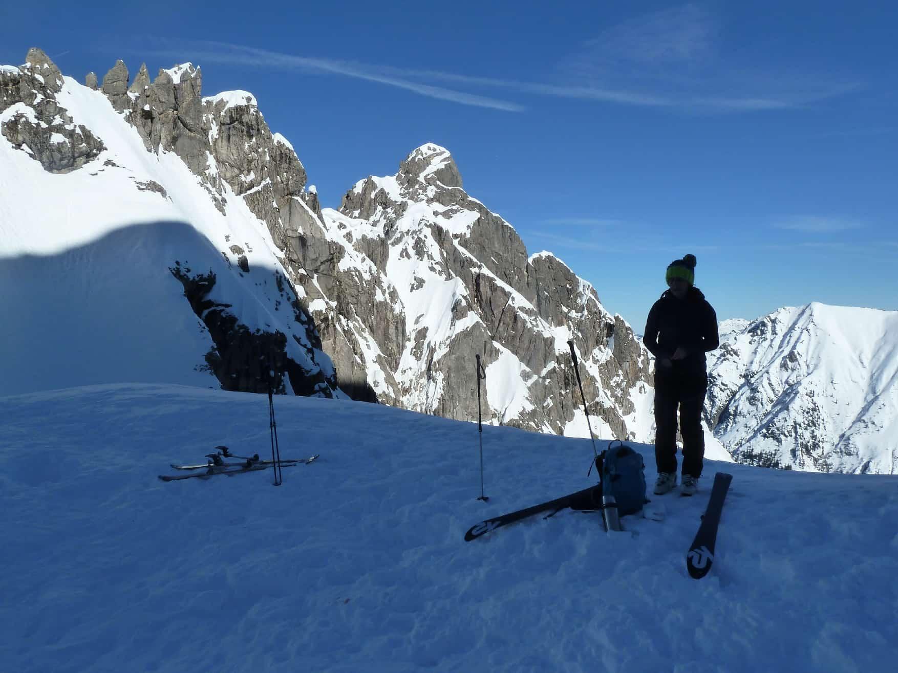 Skitour zum Karlstor mit Abfahrt ins Gemsteltal