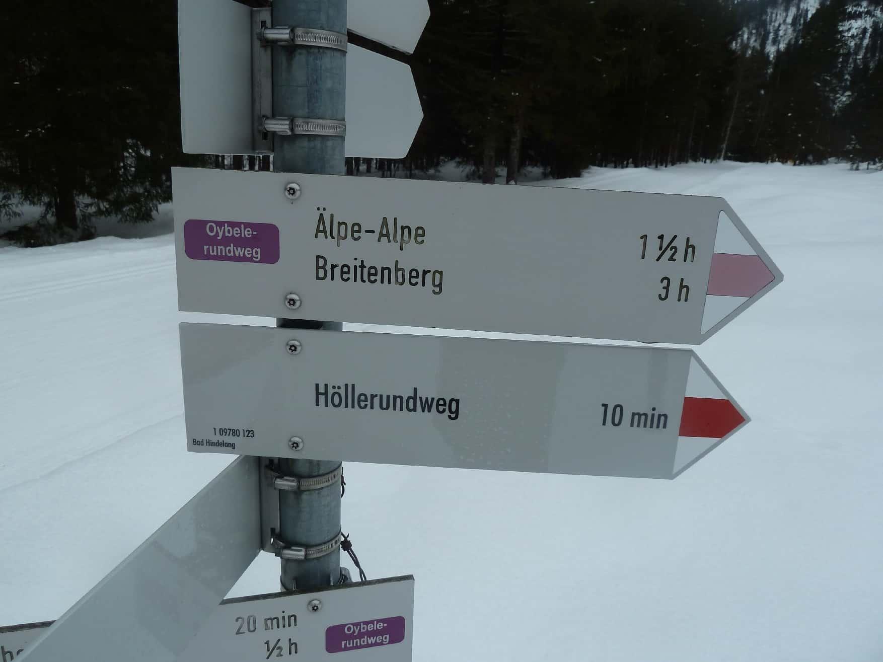Skitouren bei Hinterstein