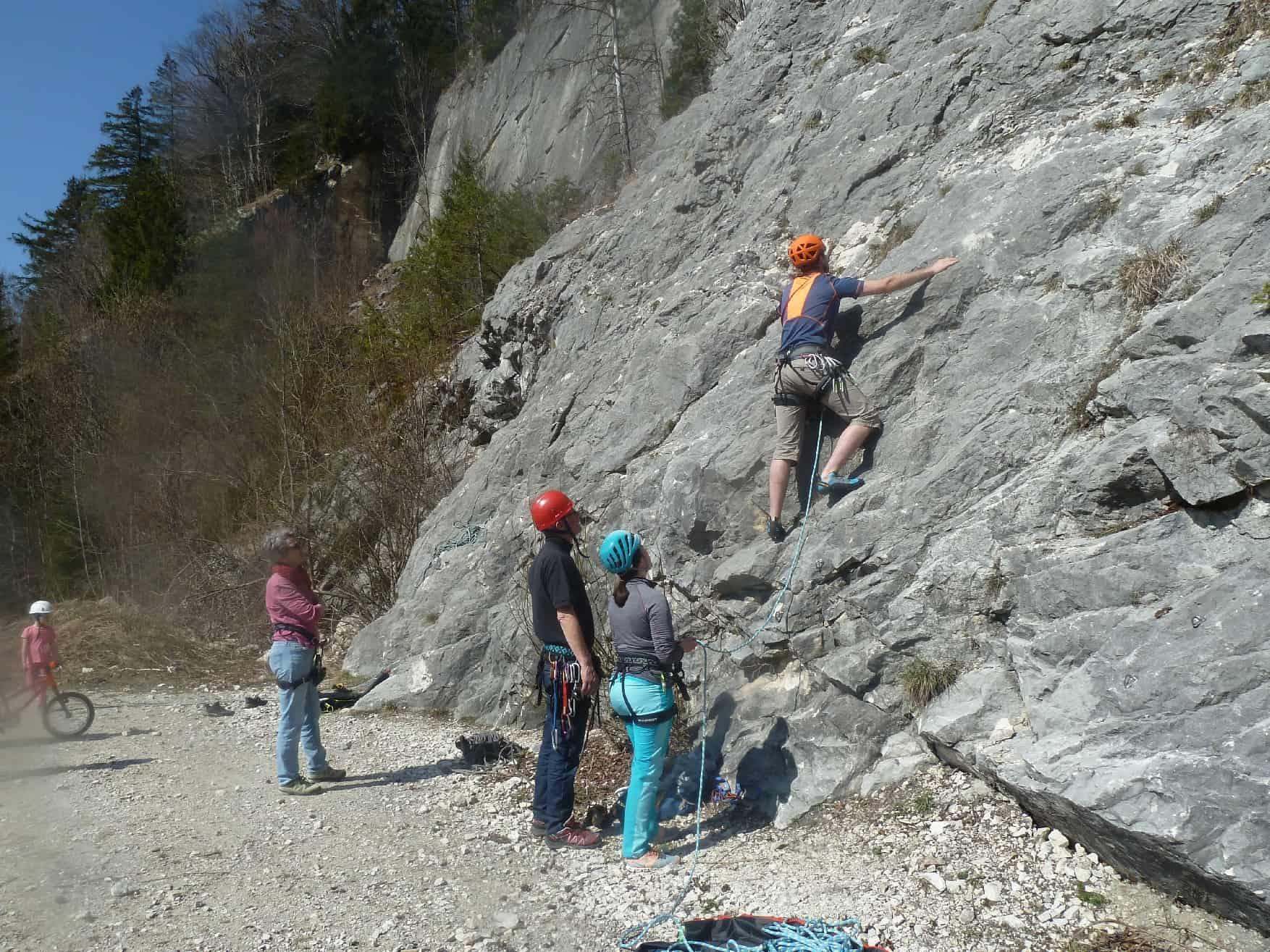 Klettern am Vilser Steinbruch