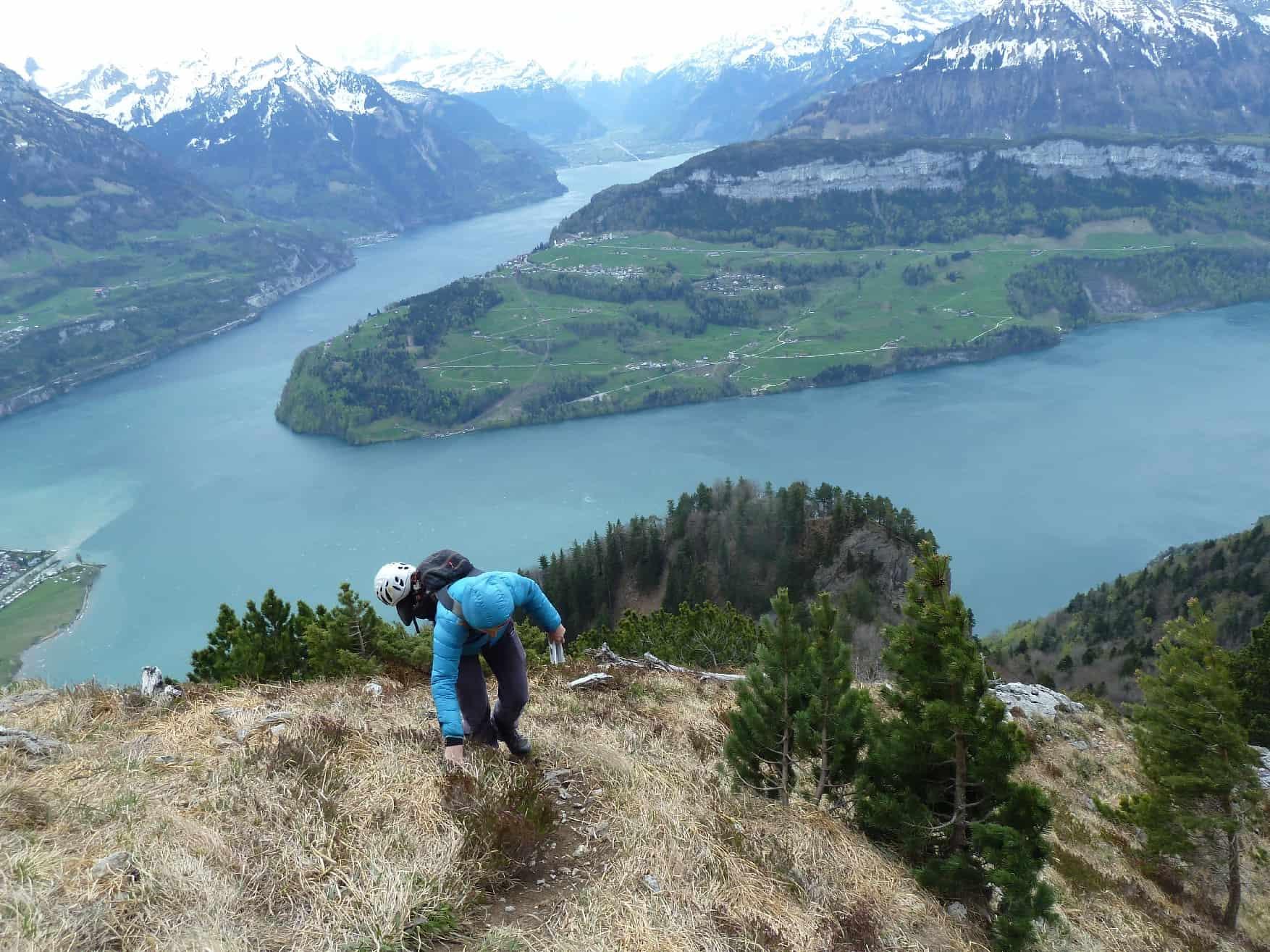 Klettern an der Rigi-Hochfluh