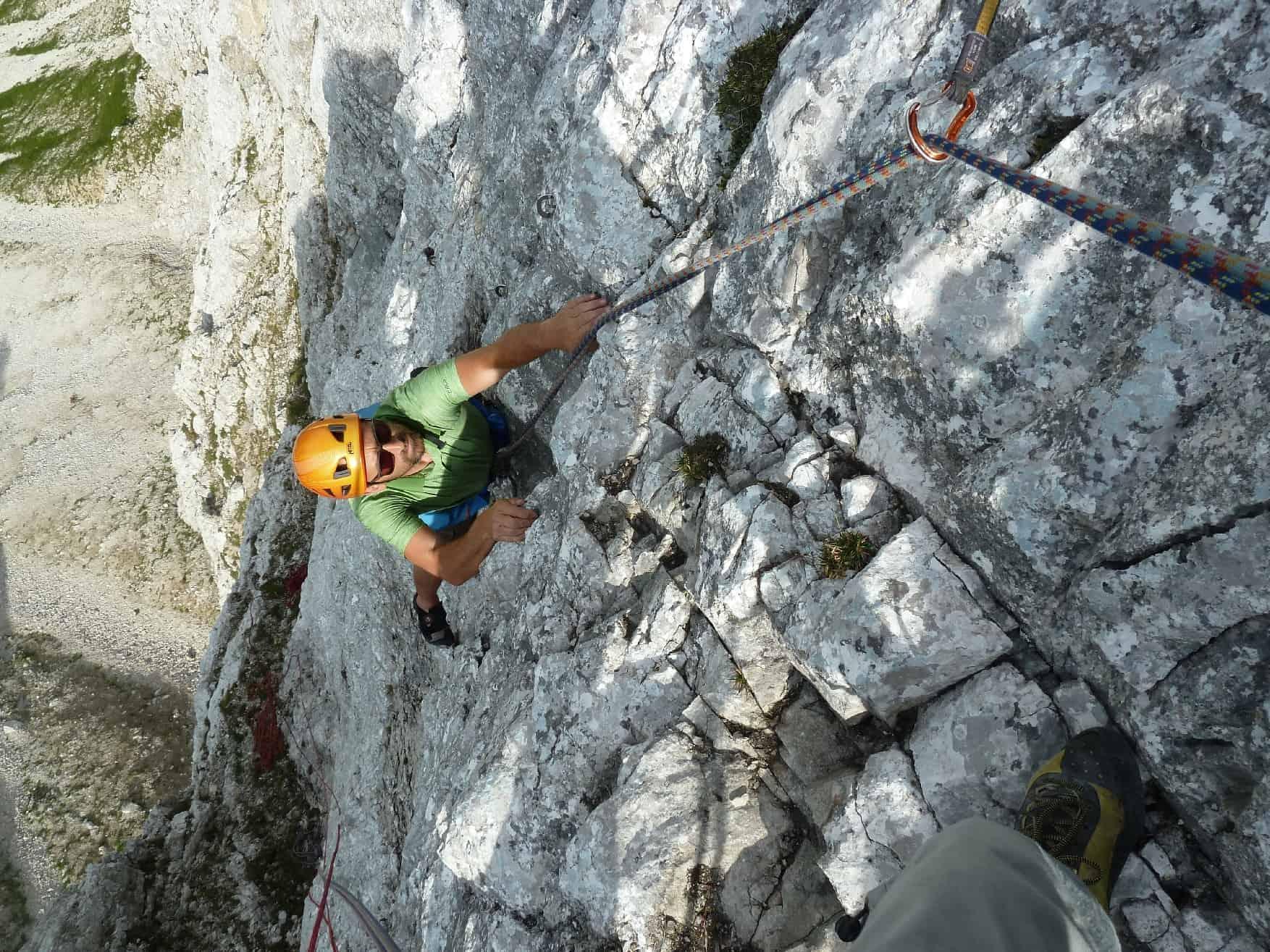 Klettern am Hahnenkopf