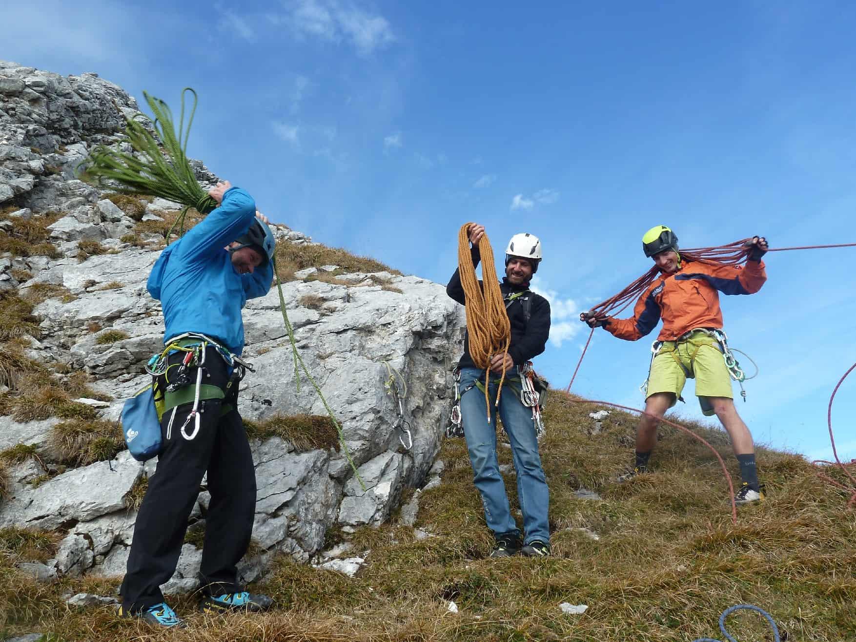 Holes, Cooles & Fools am Gimpel-Vorbau