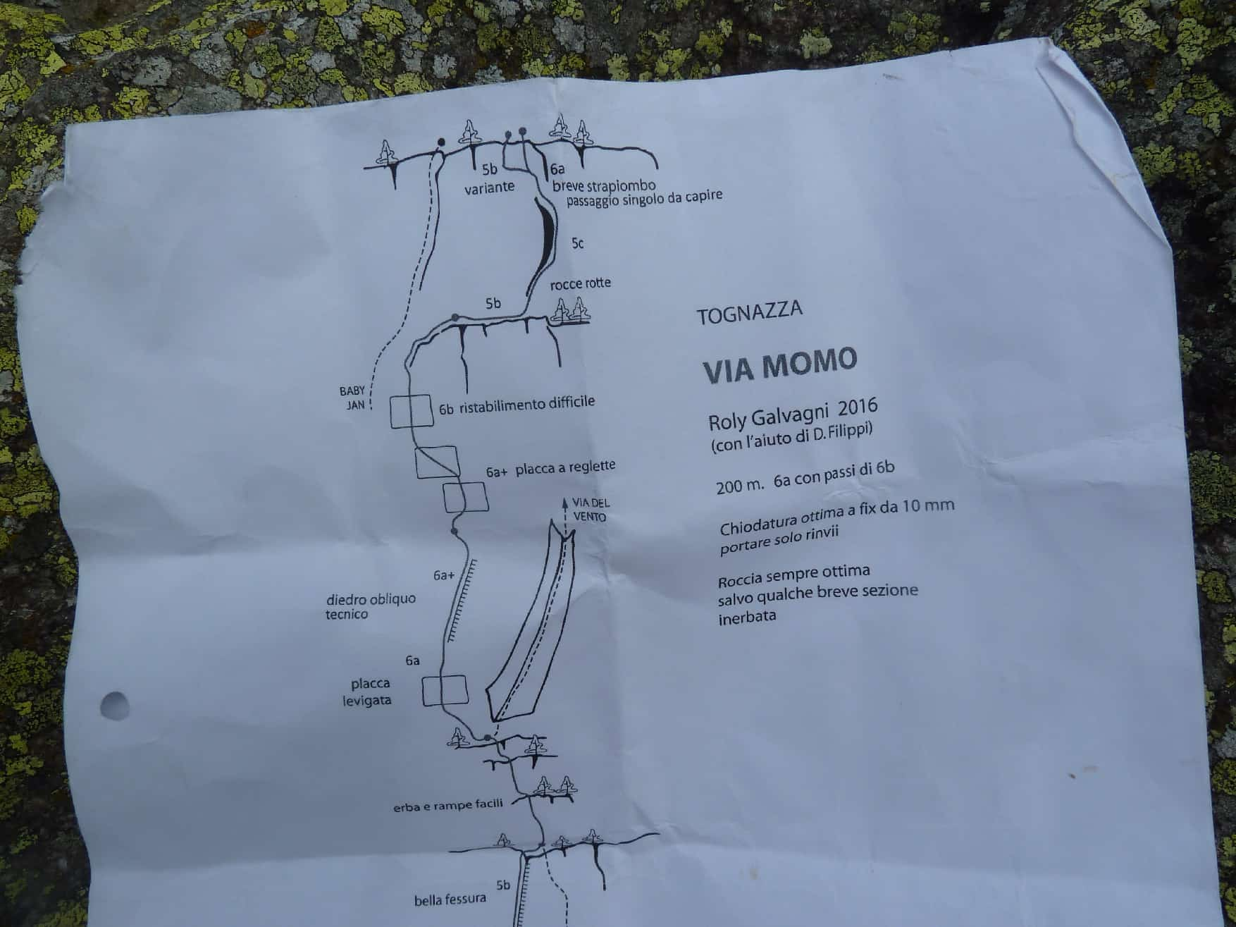 Klettern an der Tognazza