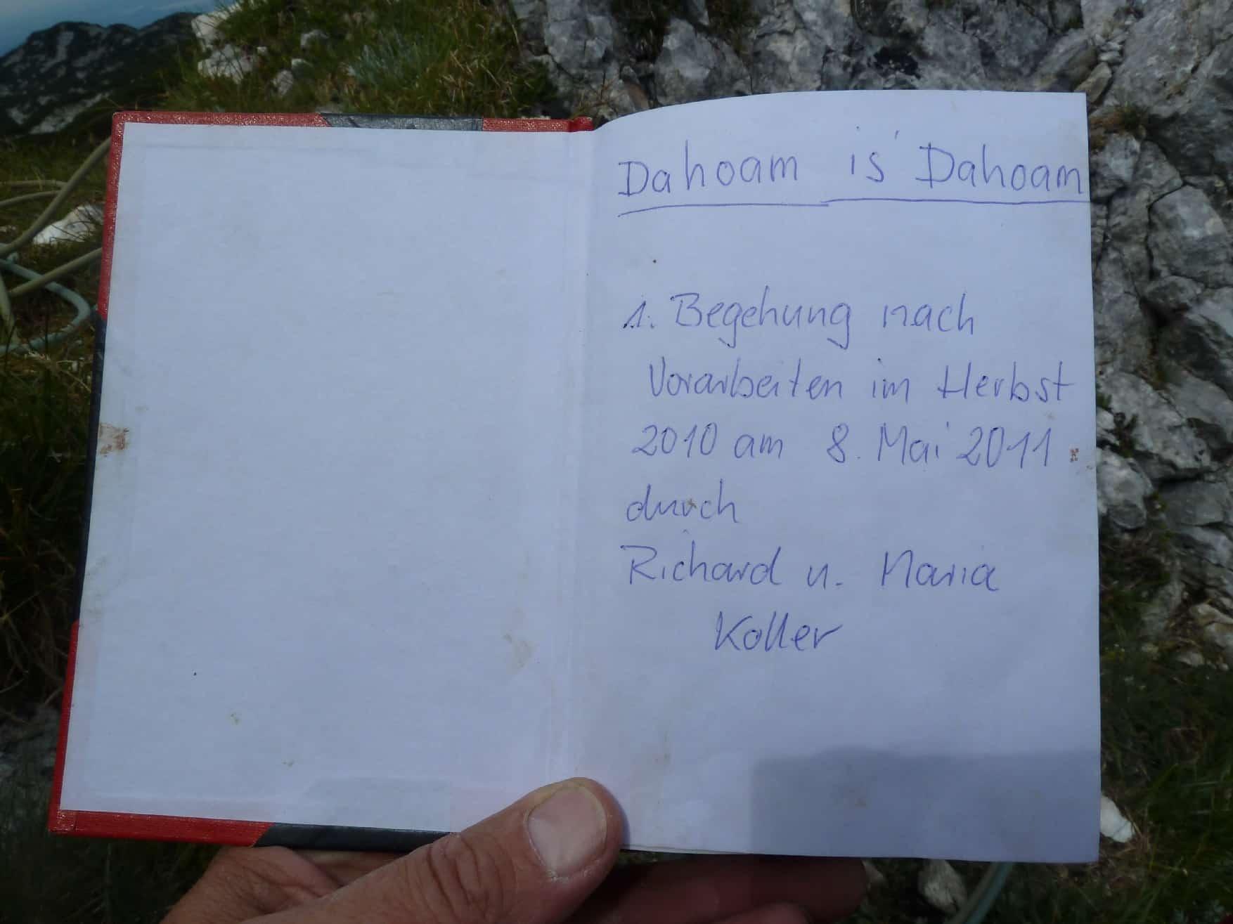 """""""Dahoam is Dahoam"""" am Berchtesgadener Hochthron"""