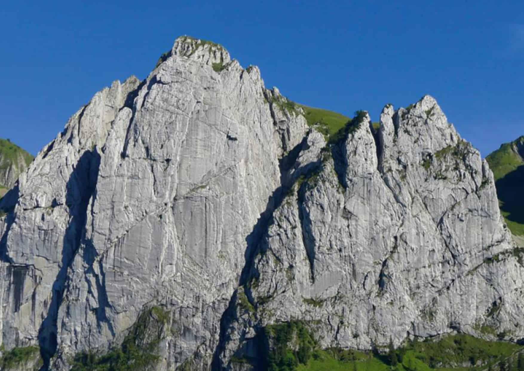 Direkte Nordwand am Großen Bockmattli Turm