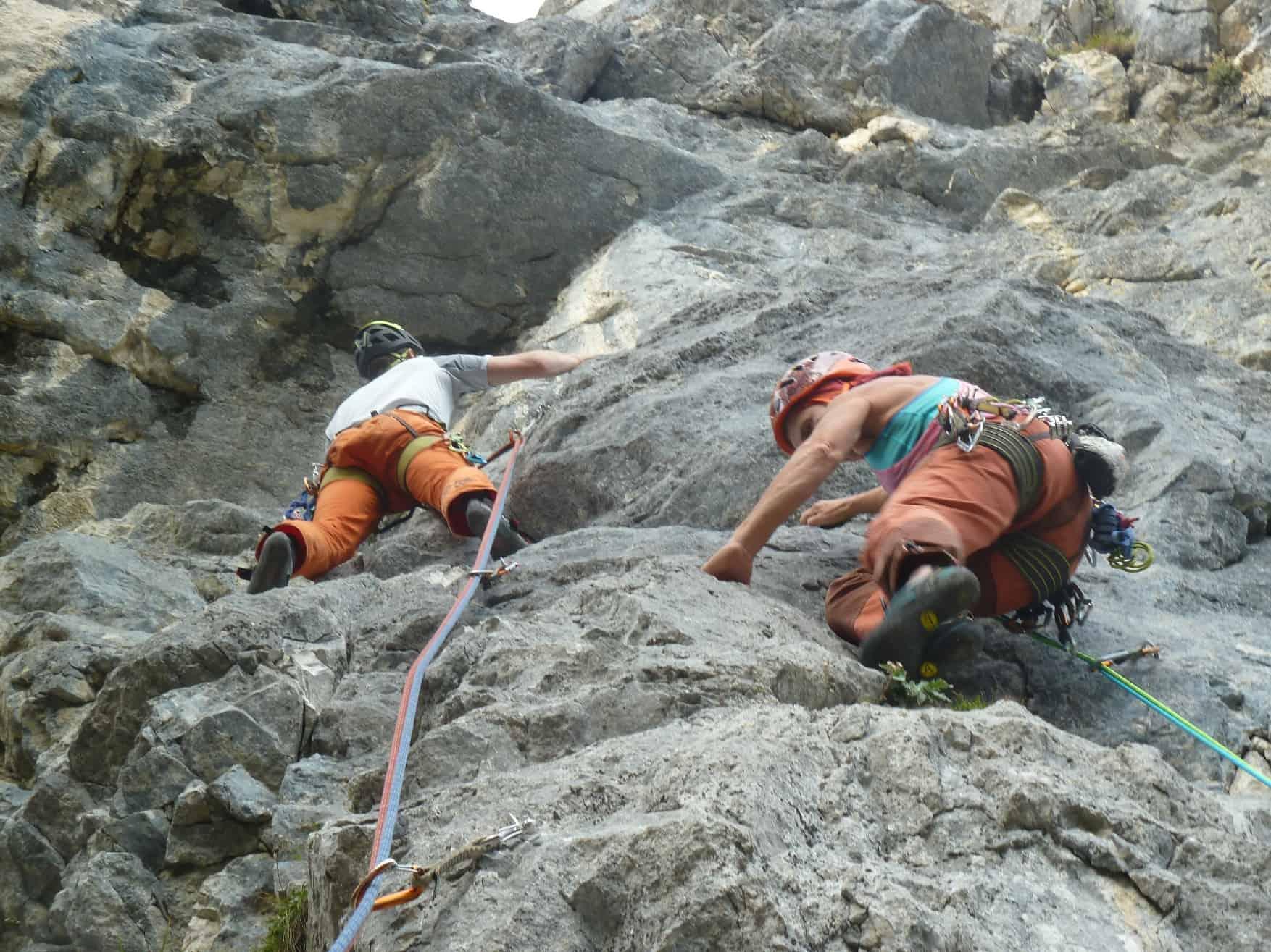 Klettern an der Allgäuer Wand