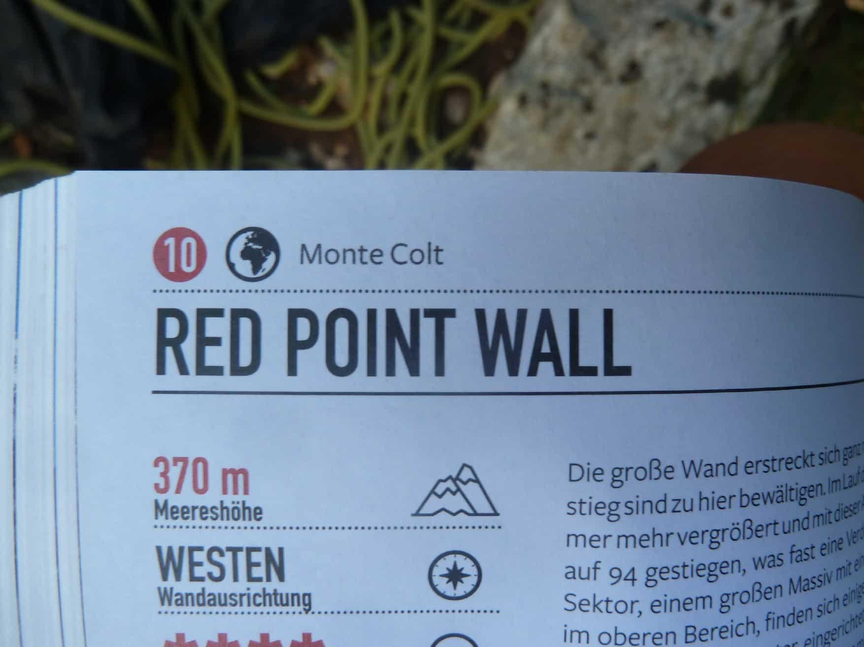 Klettern an der Red Point Wall